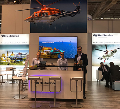 HeliService International enjoyed a successful Wind Energy exhibition in Hamburg